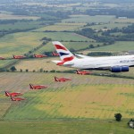 Red Arrows and British Airways' Airbus A380