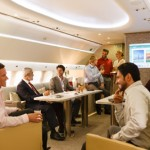 Emirates Executive Airbus A319 luxury private jet cabin
