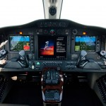 The Cessna Citation Mustang cockpit flight deck