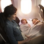 Air New Zealand Boeing 787-9 Economy Cabin Kids Sleeping on Skycouch