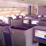 Royal Silk Class Business Class Thai Airways latest Airbus A380 Cabin