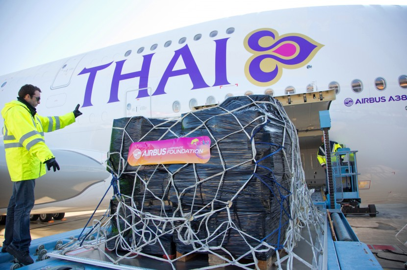 Airbus Corporate Foundation send supplies to Thailand on newest A380