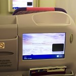 Thai Airways Boeing 747-400 Royal Silk Business Class Cabin Seats and IFE Screens