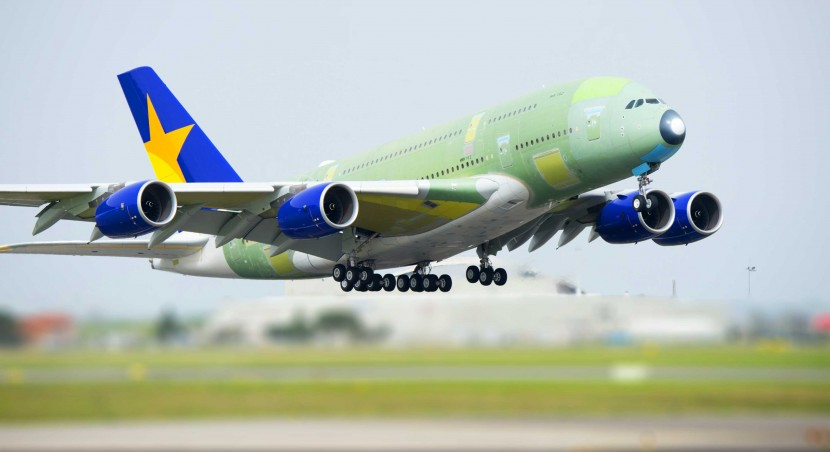 All aboard the Skymark! Their first A380 completes maiden flight