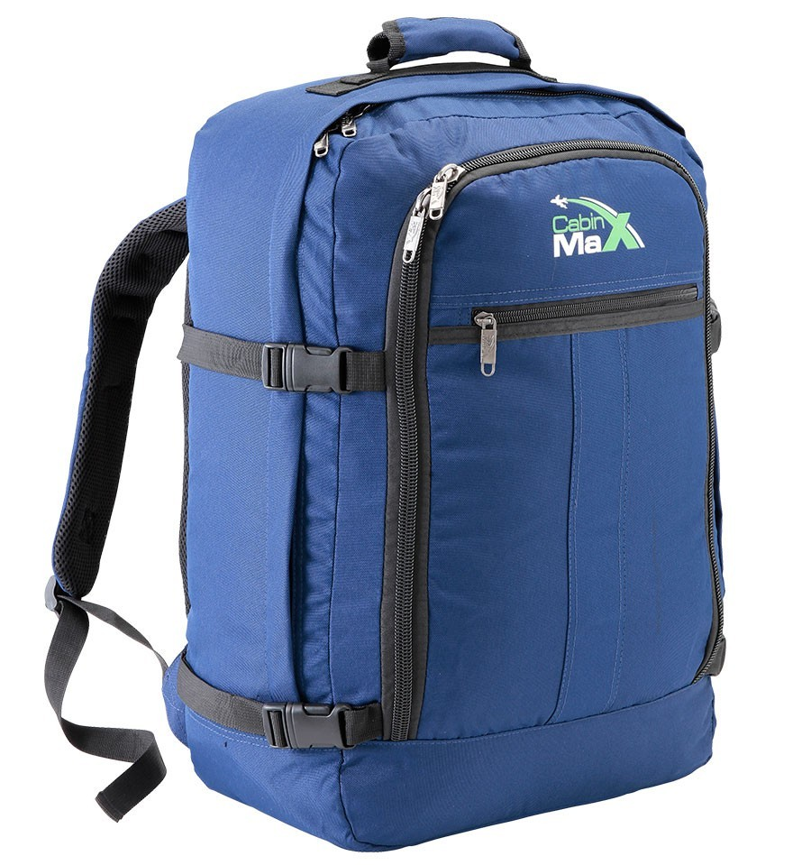 Blue backpack rucksack carry on hand luggage