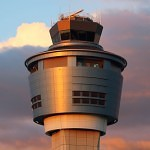 LaGuardia Airport Control Tower at Sunset. Photo by Doug Haluza