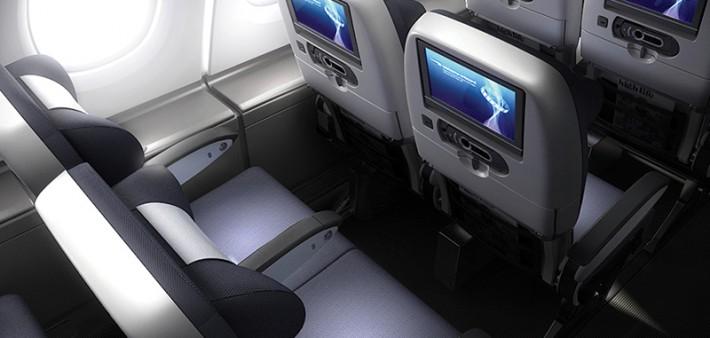 British Airways A380 World Traveller Economy Cabin