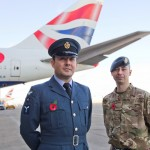Remembrance Poppy in plane site for British Airways 747 passengers