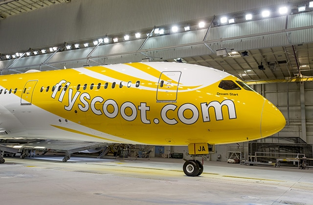 Bright New Look For New Scoot 787-9 Dreamliner