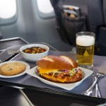 United Express Barbecue chicken on pretzel roll