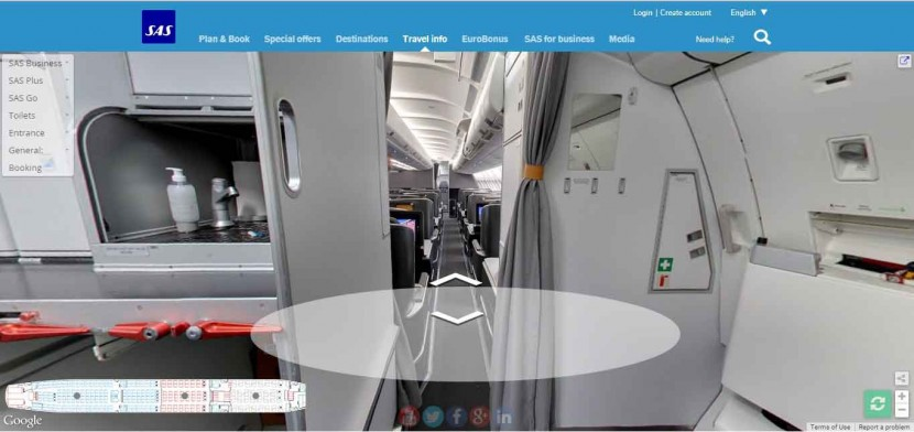 You Can Now Explore SAS's New Long-Haul Cabin Using Google Street View