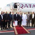 Qatar Airways CCO, Mr.-Marwan Koleilat and delegation at Abeid Amani Karume International Airport
