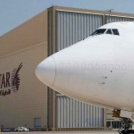 Qatar Airways first Boeing 747 freighter flies from Doha to Hong-Kong.