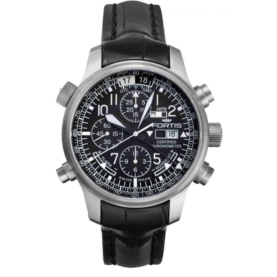 Page and Cooper's pilot watches Fortis Aviatis Daybreaker Stealth