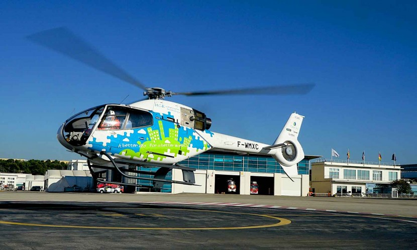 Airbus Helicopters takes first flight with new twin turbo V8 engine