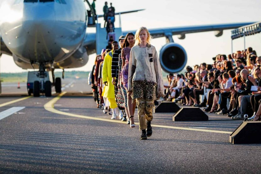 Helsinki Airport runway used for one-of-a-kind fashion show
