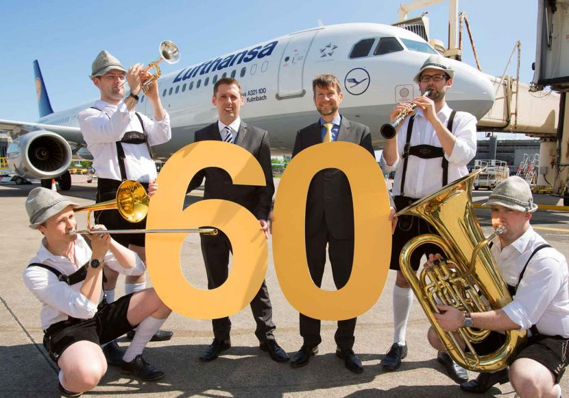 Lufthansa celebrates 60 years of flights from Manchester Airport