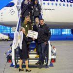 Lufthansa A350-900 lands at its home Munich Airport