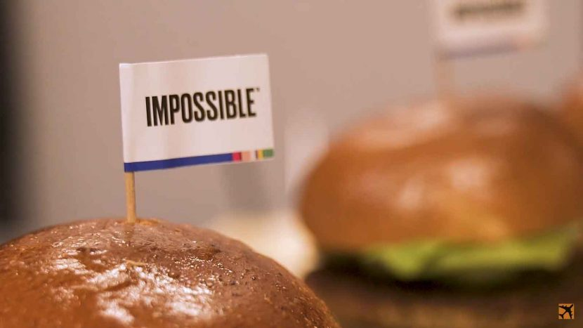Air New Zealand Business Class Burger without the Beef – Impossible Burger