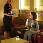 A variety of services are available in the Air France Business Class lounge