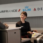 Air France Business Class check-in at counter