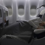 Air France Business Class near flat bed in Affaires Cabin