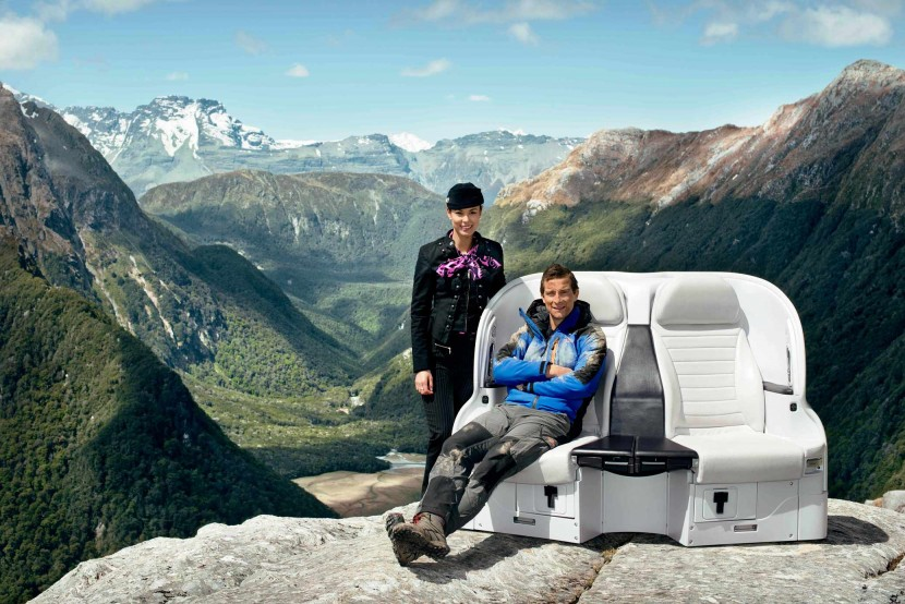 Bear Grylls stars in latest Air New Zealand A320 safety video