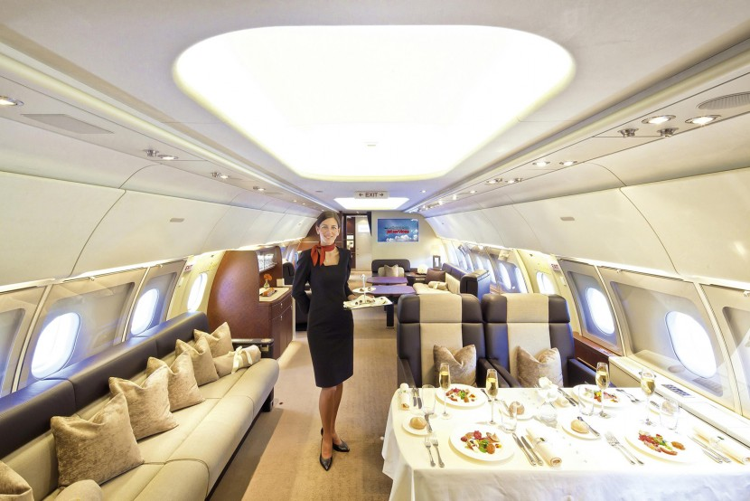 Airbus show ACJ318 Business Jet cabin benefits at EBACE