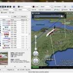 An Easyjet Airbus A319 shown on the AirNav 3D RadarBox screen