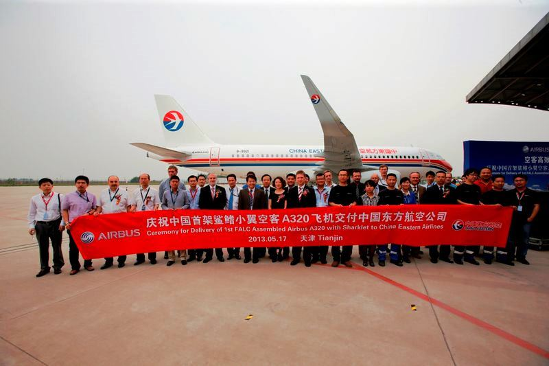 China Eastern Airlines gets first Chinese assembled A320 with Sharklets