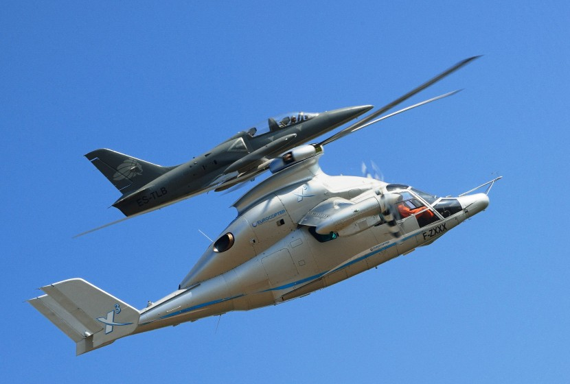 Eurocopter X3 hybrid concept helicopter breaks helicopter speed record