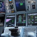 Farnborough Airshow 2012 Airbus A380 cockpit