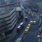 Helicopter crash in London fire almost out