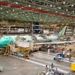 747-8 Intercontinental at Boeing main assembly hangar