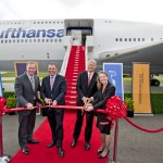 Lufthansa get the keys to their Boeing 747-8 and take-off