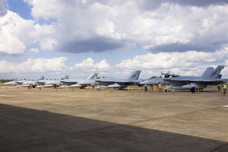 First five F/A-18F Super Hornets arrive in Australia