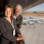 Sir Richard Branson and New Mexico Governor Susana Martinez dedicate the Virgin Galactic Gateway