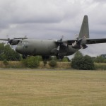 The Hercules flypast at RAF Cosford museum runway