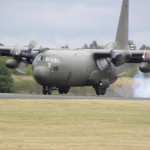 The Hercules touchdown at RAF Cosford museum