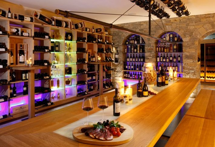 Try a visit to the wine cellar at the Plunhof Hotel - South Tyrol