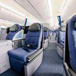 United Boeing 787 Dreamliner Aircraft Business Class Cabin