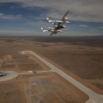 VMS Eve and VSS Enterprise over Spaceport America Runway
