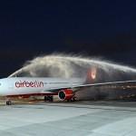 airberlin Airbus A330 arrives at Abu Dhabi airport