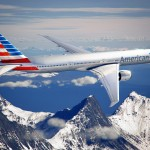 The new American Airlines livery on its flagship B777-300ER